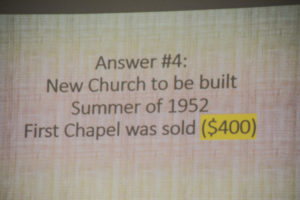 70th Anniversary Chapel Quiz