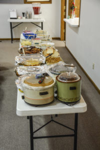 70th Anniversary Potluck Table