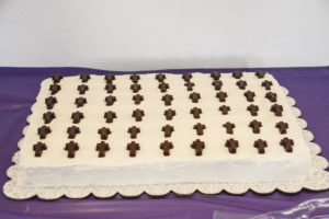 70th Anniversary White Cake